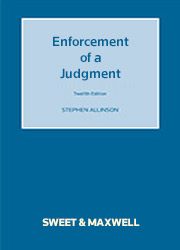 Enforcement of a Judgment 12e