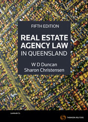 Real estate agency law in qld 5e thomson reuters australia real estate agency law in qld 5e book ebook fandeluxe Gallery