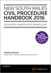 Books ebooks civil procedure alternative dispute resolution nsw civil procedure handbook 2016 by eneral editors the hon john p hamilton qc the hon justice geoff lindsay michael morahan carol webster fandeluxe Images