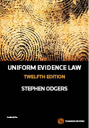 Uniform Evidence Law 12th Edition - Book & eBook