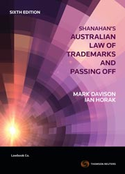 Shanahan's Australian Law of Trade Marks and Passing Off 6th Edition - Hardcover Book