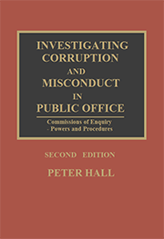 Investigating Corruption and Misconduct in Public Office