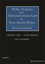 Wills, Probate and Administration Law in NSW 2e - eBook