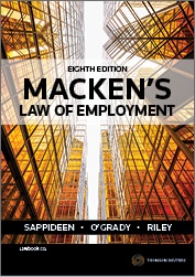 Macken's Law of Employment 8e book + ebook
