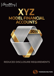 2016 XYZ Model Financial Accounts Reduced Disclosure Requirements - Book