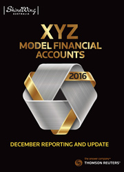 XYZ Model Financial Accounts - December Reporting & Update 2016 - CD