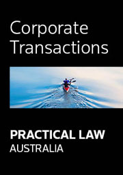 Practical Law Australia - Corporate Transactions