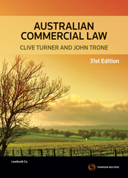 Australian Commercial Law 31st edition eBook