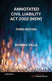 Annotated Civil Liability Act 2002 (NSW) 3e - Book
