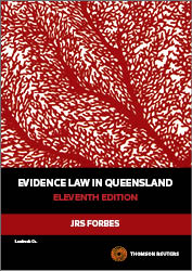 Evidence Law in Queensland 11th Edition - Book & Ebook