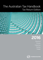 The Australian Tax Handbook Tax Return Edition 2016