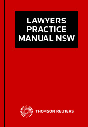 Lawyers Practice Manual NSW eSub