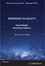Remedies in Equity 2nd Edition - The Laws of Australia Book