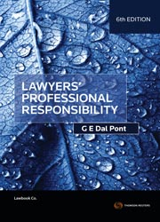 Lawyers' Professional Responsibility 6e