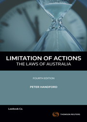 Limitation of Actions - The Laws of Australia 4th Edition book + ebook