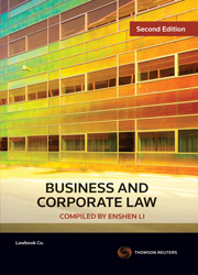 Business and Corporate Law 2nd ed