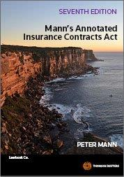 Manns Annotated Insurance Contracts Act 7th ed book and eBook