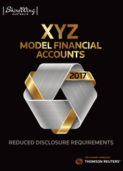 XYZ Model Financial Accounts - Reduced Disclosure Requirements 2017 - Book