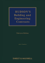 Hudson's Building and Engineering Contract 13th edition, 1st Supplement