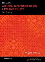 Miller's Australian Competition Law and Policy 3e ebk & bk