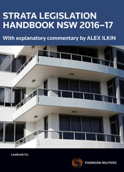 Strata Legislation Handbook NSW 2016-17 book+ebook