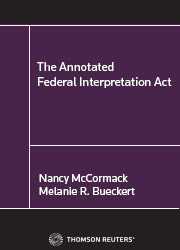 The Annotated Federal Interpretation Act