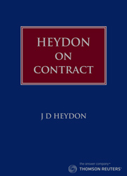 Heydon on Contract Law (Book)