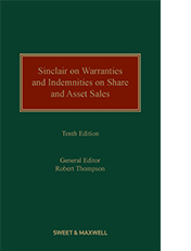 Sinclair on Warranties and Indemnities on Share and Asset Sales 10th edition