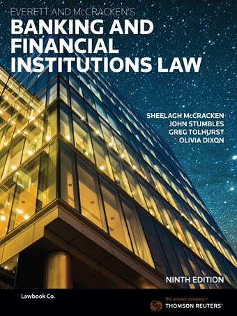 Everett and McCracken's Banking & Financial Institutions Law 9th edition