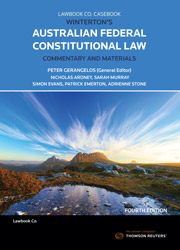 Winterton's Australian Federal Constitutional Law Commentary & Materials 4th edition Book & eBook