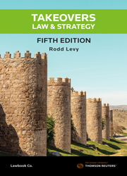 Takeovers Law and Strategy 5th Edition - Book & eBook