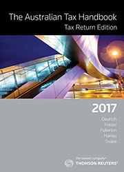 Australia Tax Handbook Tax Return Edition 2017 Book+eBook
