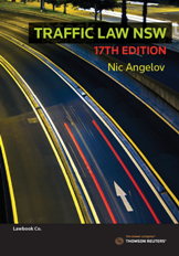 Traffic Law New South Wales 17e - Book