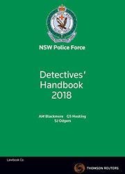 Detectives handbook 2018 book thomson reuters australia detectives handbook 2018 book fandeluxe Choice Image