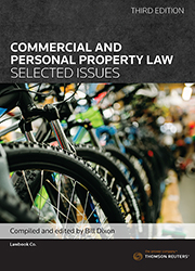 Commercial and Personal Property Law: Selected Issues 3rd ed