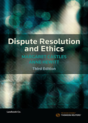 Dispute resolution and ethics 3e thomson reuters australia dispute resolution and ethics 3e fandeluxe Images