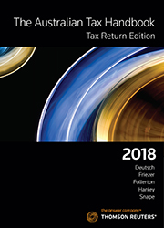 Australian Tax Handbook Tax Return Edition 2018