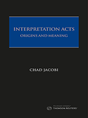 Interpretation Acts: Origins and Meanings - book + eBook