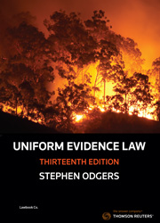 Uniform Evidence Law 13th Edition - Book