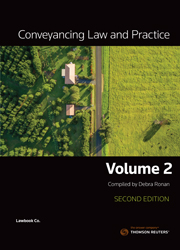 Conveyancing Law and Practice Volume 2 2nd Edition