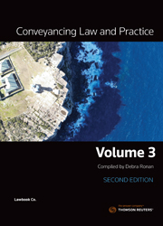 Conveyancing Law and Practice Volume 3 2nd Edition
