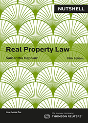 Nutshell: Real Property Law 5e book+ebook