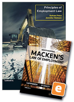 Student law books thomson reuters australia principles of employment 5th edition book mackens law of employment 8th edition ebook value fandeluxe Gallery
