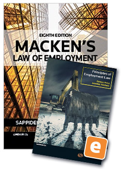 Macken's Law of Employment 8th edition Book + Principles of Employment Law 5th edition eBook (Value Bundle)
