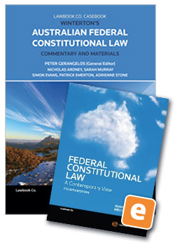 Student law books thomson reuters australia wintertons australian federal constitutional law commentary and materials 4th edition book federal constitutional law fandeluxe Image collections