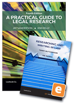 Student law books thomson reuters australia a practical guide to legal research 4th edition book researching and writing in law 4th fandeluxe Gallery