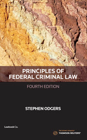 Principles Federal Criminal Law Fourth Edition - Book