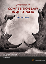 Corones' Competition Law in Australia 7th edition Book & eBook