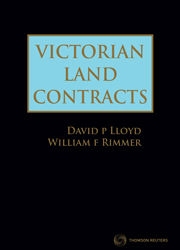 Victorian Land Contracts Book+eBook