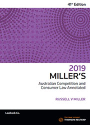Millers Aust Comp and Cons Law Annotated 41 e 2019 eBook